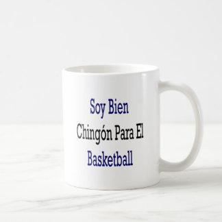 Baloncesto del EL de Bien Chingon Para de la soja Taza Básica Blanca