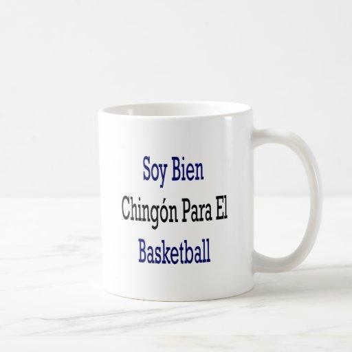Baloncesto del EL de Bien Chingon Para de la soja Taza De Café