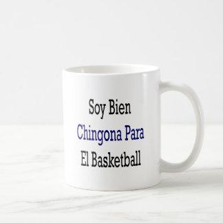 Baloncesto del EL de Bien Chingona Para de la soja Taza Básica Blanca