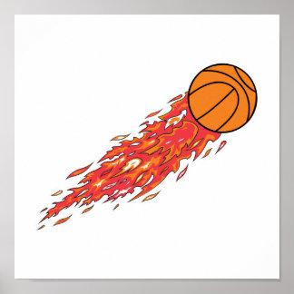 baloncesto en el fuego posters