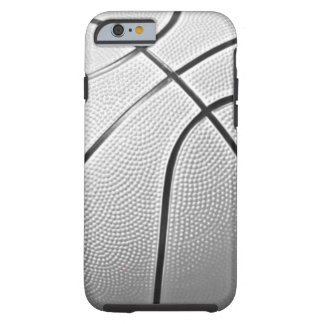 Baloncesto negro y blanco funda para iPhone 6 tough