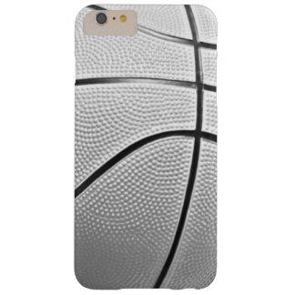 Baloncesto negro y blanco funda para iPhone 6 plus barely there