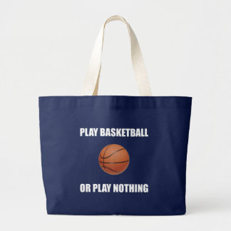 Baloncesto o nada del juego bolso de tela gigante