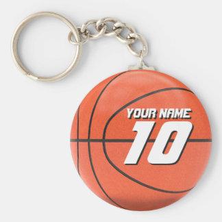 Baloncesto personalizado llavero redondo tipo chapa