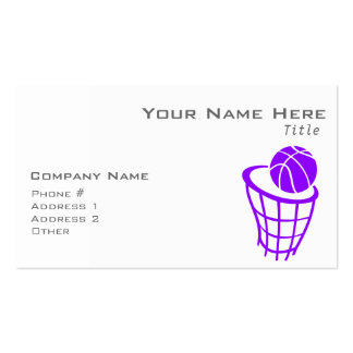 Baloncesto púrpura violeta tarjetas de visita