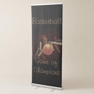 Baloncesto The Game de los fanáticos de los Pancarta Retráctil