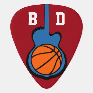 baloncesto y guitarra, deporte personalizado plectro