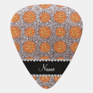 Baloncestos de plata conocidos personalizados del uñeta de guitarra