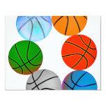 Baloncestos múltiples invitación 10,8 x 13,9 cm