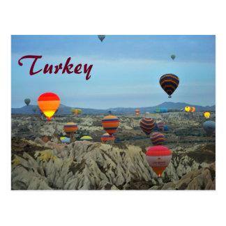 Balones de aire de la postal de Turquía