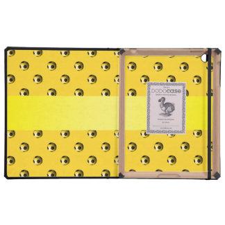Balones de fútbol amarillos conocidos iPad cárcasas