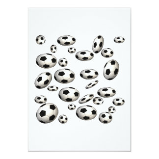 Balones de fútbol invitación 12,7 x 17,8 cm
