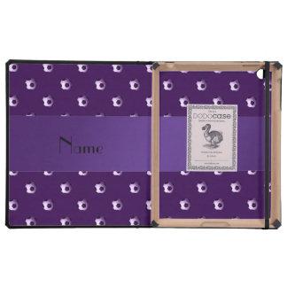 Balones de fútbol púrpuras conocidos personalizado iPad carcasas