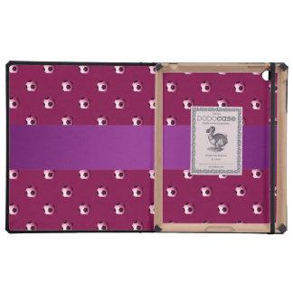 Balones de fútbol púrpuras personalizados del iPad carcasas