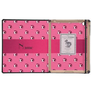 Balones de fútbol rosados conocidos personalizados iPad coberturas