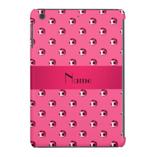 Balones de fútbol rosados conocidos personalizados fundas de iPad mini retina