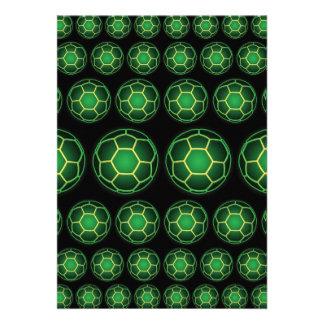 Balones de fútbol verdes