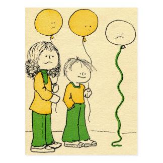 Baloons triste postal
