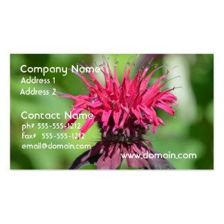 Bálsamo de abeja rosado tarjeta de visita