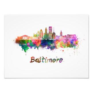 Baltimore V2 skyline in watercolor Foto