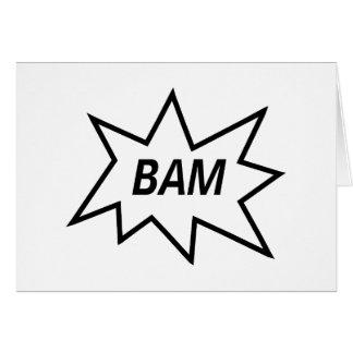 ¡Bam! Tarjeta De Felicitación