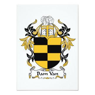 Bam Van Family Crest Invitación 12,7 X 17,8 Cm