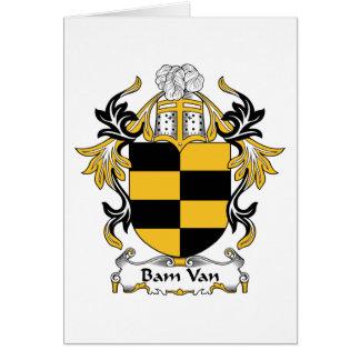 Bam Van Family Crest Felicitaciones