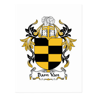 Bam Van Family Crest Tarjetas Postales