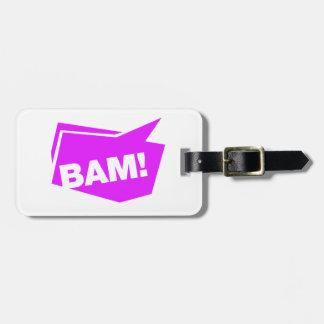 ¡BAM violett Etiqueta Para Maleta