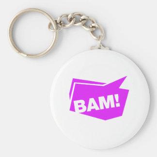 ¡BAM! violett Llavero Personalizado