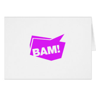 ¡BAM violett Tarjeton