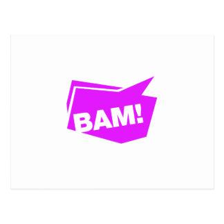 ¡BAM violett Postales