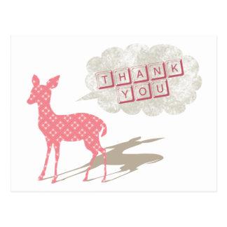 Bambi rosado le agradece postal