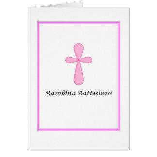 Bambina Battesimo - bautismo del bebé en tarjeta