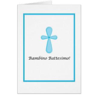 Bambino Battesimo - bautismo del bebé en italiano Tarjeta De Felicitación