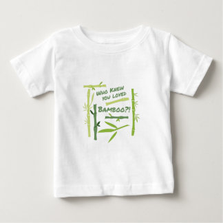 Bambú amado camiseta de bebé