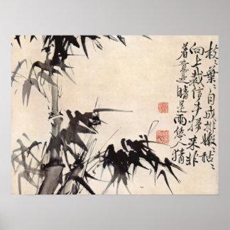Bambú de Hsu Wei Póster