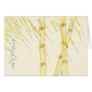 Bambú de la amistad tarjeta de felicitación