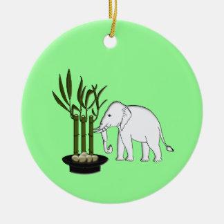 Bambú de los bonsais adorno redondo de cerámica