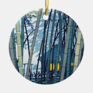 Bambú de Shiro Kasamatsu en arte del comienzo del Adorno Redondo De Cerámica