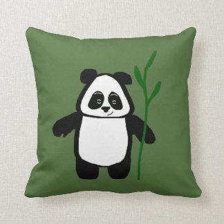Bambú el amortiguador de la panda cojín decorativo