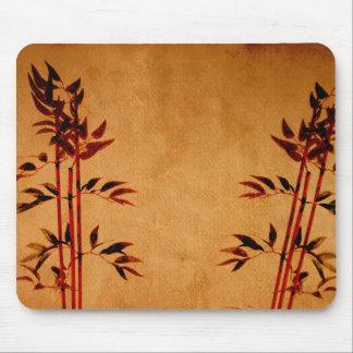 Bambú en el pergamino alfombrilla de ratón