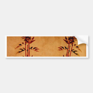 Bambú en el pergamino pegatina de parachoque