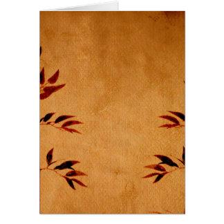 Bambú en el pergamino tarjeta