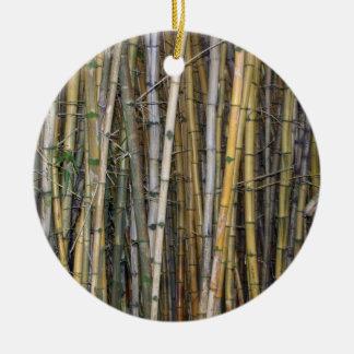 Bambú en Hilo, Hawaii - ornamento Adorno Redondo De Cerámica