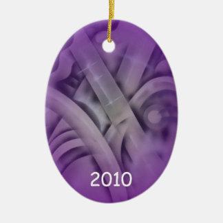 Bambú en púrpura adorno de navidad