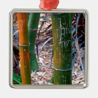 Bambú grabado al agua fuerte adornos de navidad