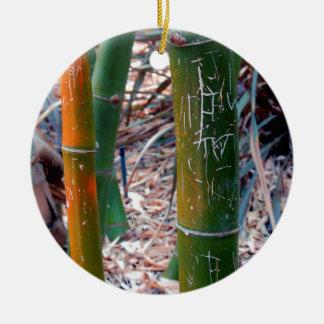 Bambú grabado al agua fuerte ornato