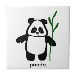 Bambú la teja de la panda
