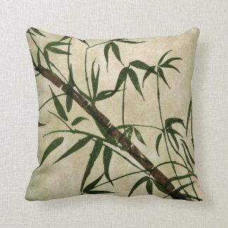 Bambú oriental 1 del vintage cojín decorativo